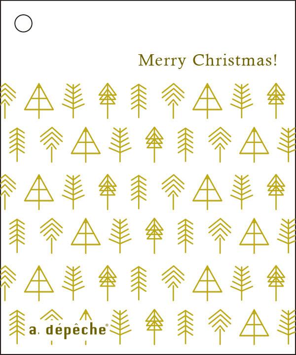 アデペシュ クリスマスギフトラッピング メッセージカード