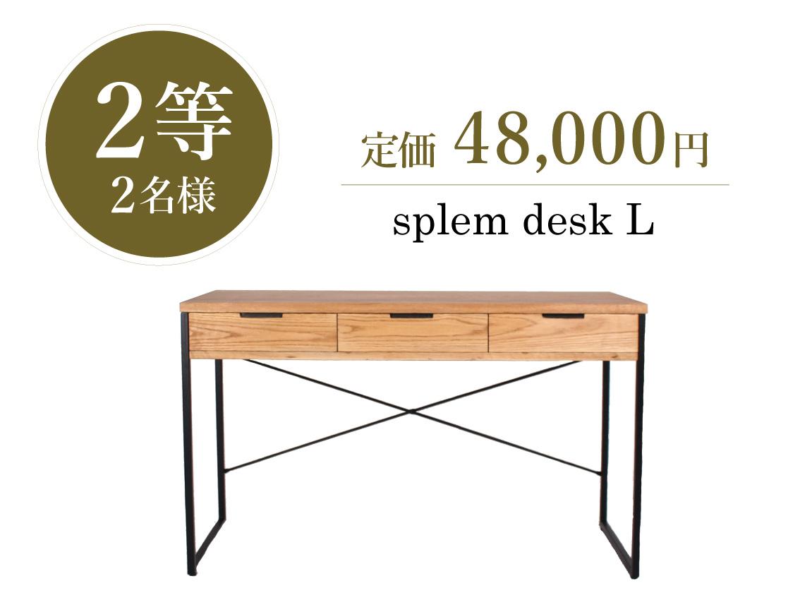 宝くじ【2等】2名様 splem desk L