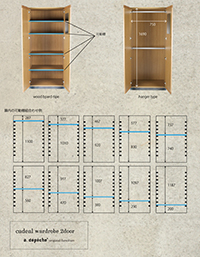 cadeal wardrobe 2door