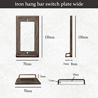 iron hang bar switch plate wide