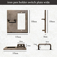 iron pen holder switch plate wide