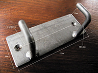 iron plate hook square double