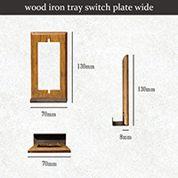 wood iron tray switch plate wide