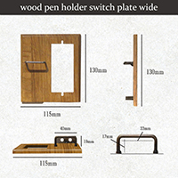 wood pen holder switch plate wide
