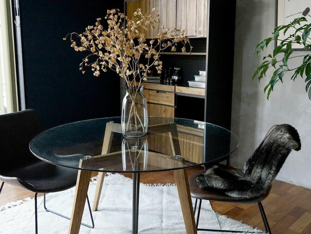 Gノット ガラス テーブル 1500 クリア 使用イメージ02