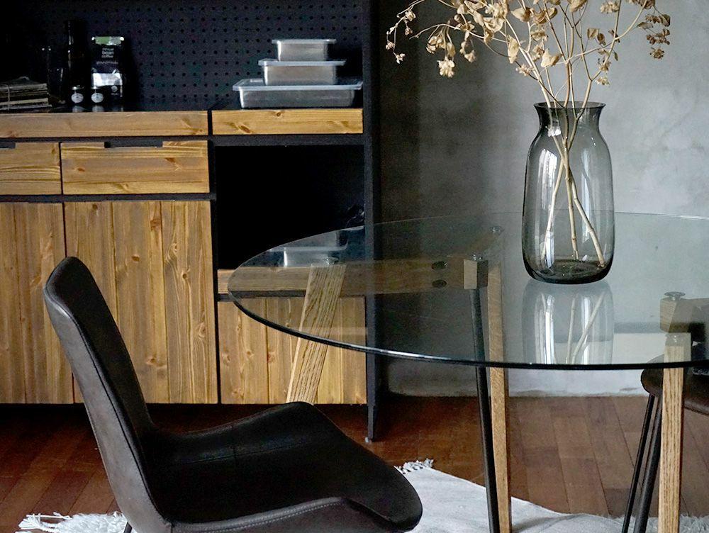 Gノット ガラス テーブル 1500 クリア 使用イメージ03