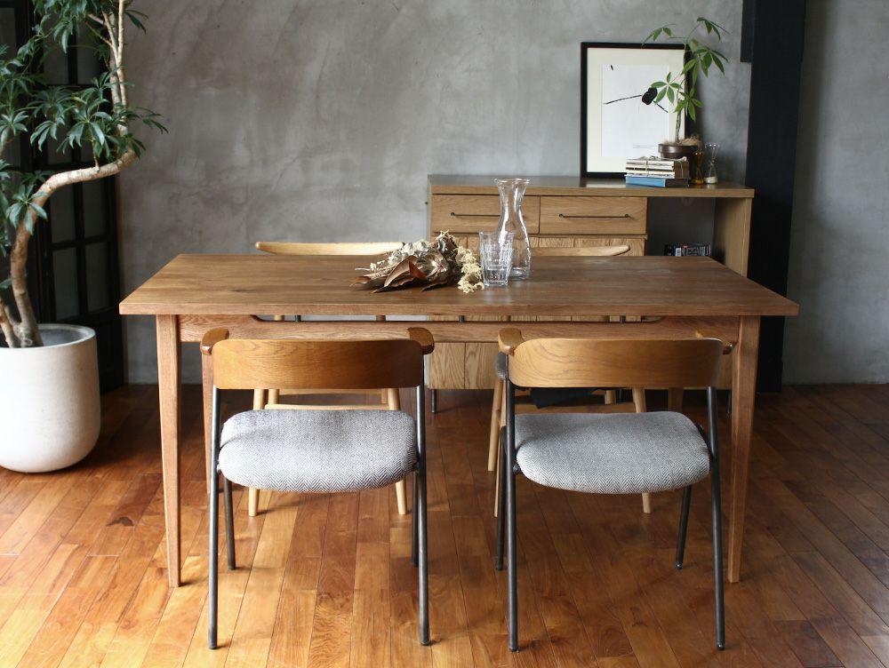 ソロ ダイニングテーブル ブラウン 1600使用イメージ02