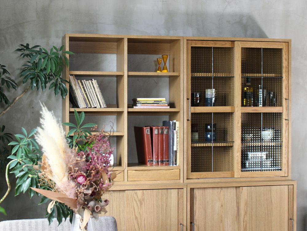 カデル ブックケース オープンウィズドロワー
